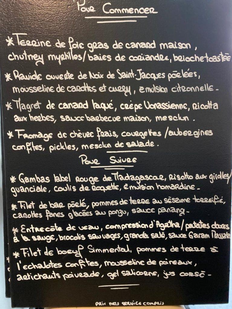 Restaurant Gastronomie 68 Mulhouse centre ville présente en date du 01 septembre 2020 sa nouvelle carte